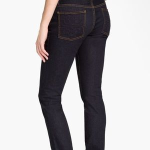 Tory Burch Super Skinny Dark Wash stretchJeans 25